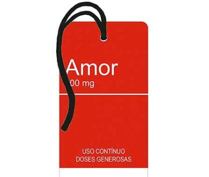 Tag Decorativa MDF Amor - LitoArte - Rizzo Embalagens