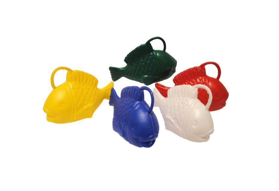Mini Brinquedo Peixinho Colorido Sortido - 6 x 8,5cm - 10 Unidades - Dodo Brinquedos - Rizzo Embalagens
