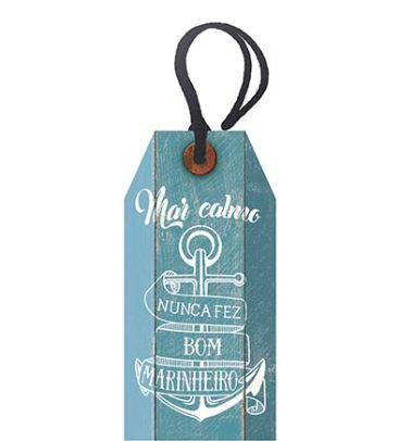 Tag Decorativa MDF Mar Calmo...  - LitoArte - Rizzo Embalagens