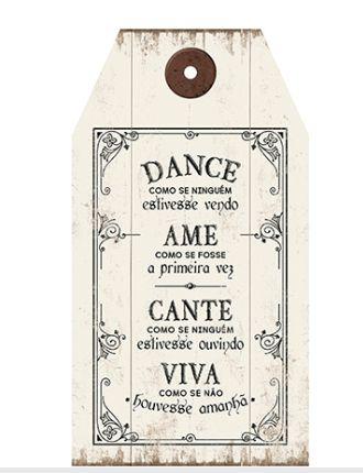 Plaquinha de MDF Dance... 19x35cm - 01 unidade - LitoArte - Rizzo Embalagens