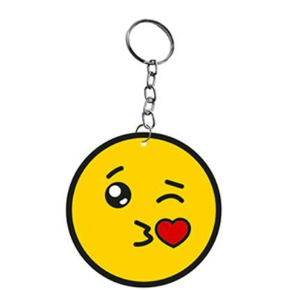 Chaveiro Decorativo MDF Emoji Beijinho - LitoArte - Rizzo Embalagens