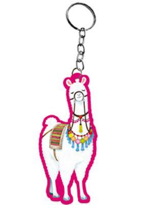 Chaveiro Decorativo MDF Unicórnio Lhama Pink -  LitoArte - Rizzo Embalagens