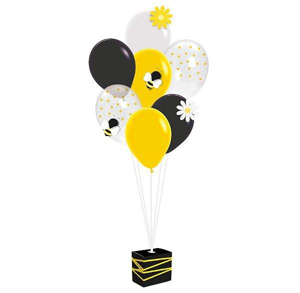 Kit Balões Festa Abelhinha - Cromus - Rizzo Festas