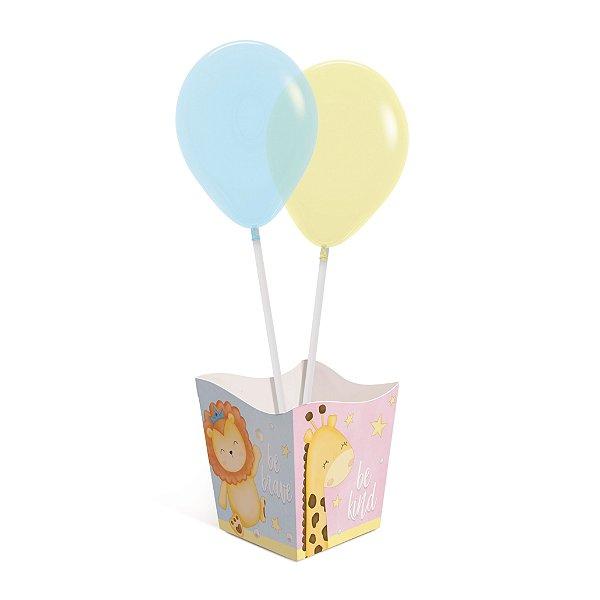 Kit Cachepot Balões Festa Bichinhos Baby - 4 unidades - Cromus - Rizzo Festas