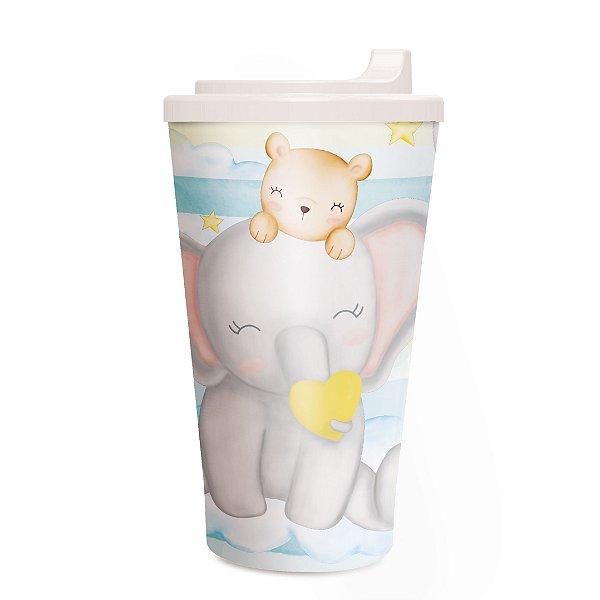 Copo Plástico com Tampa Festa Bichinhos Baby 300ml - Cromus - Rizzo Festas