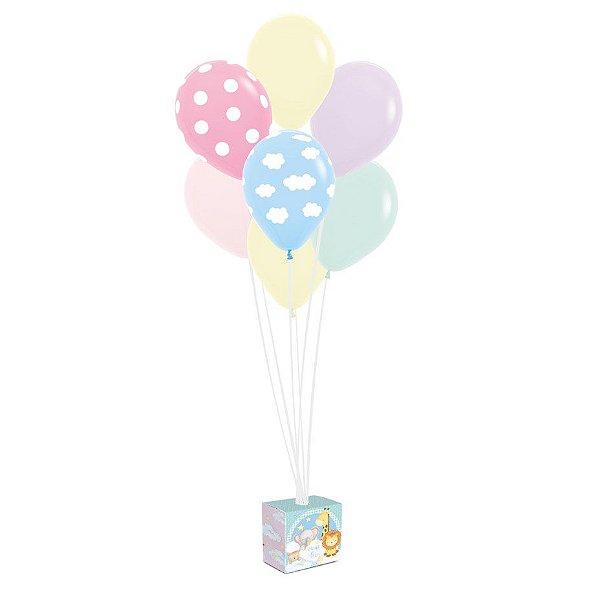 Kit Balões Festa Bichinhos Baby - Cromus - Rizzo Festas