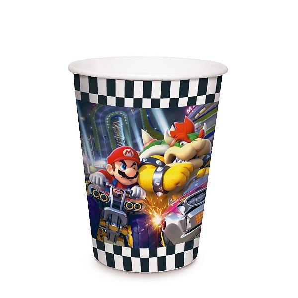 Copo de Papel Festa Mario Kart 240Ml - 8 unidades - Cromus - Rizzo Festas