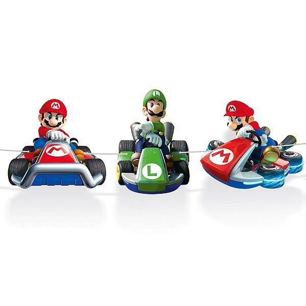 Faixa Decorativa Mario Karts Festa Mario Kart - Cromus - Rizzo Festas
