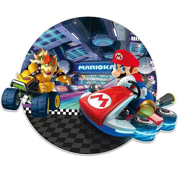 Painel Redondo Festa Mario Kart - Cromus - Rizzo Festas