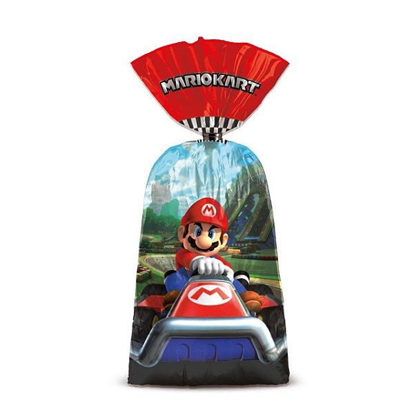 Sacolinha p Lembrancinha Festa Mario Kart - 8 unidades - Cromus - Rizzo Festas