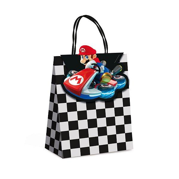 Sacola de Papel p Lembrancinha Festa Mario Kart - 10 unidades - Cromus - Rizzo Festas