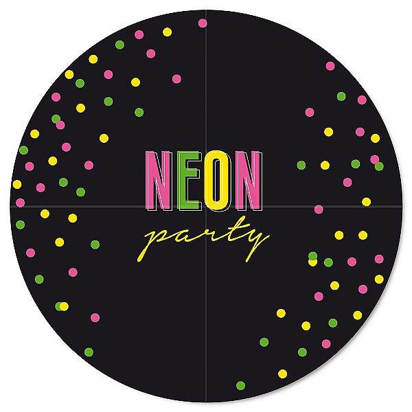 Painel Gigante Festa Neon - Cromus - Rizzo Festas