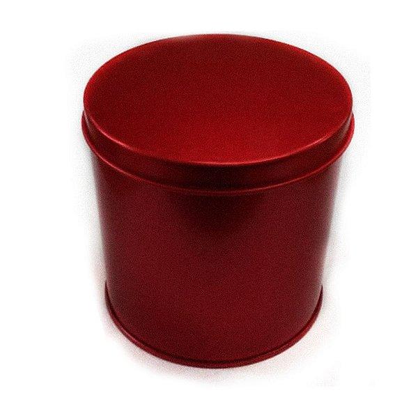 Lata Redonda para Lembrancinha Vermelha - 10 x 10cm - Artegift - Rizzo Embalagens
