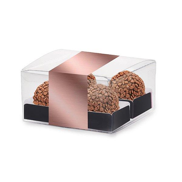 Caixa Clean com Forminhas Festa Rose Gold - 10 unidades - Cromus - Rizzo Festas