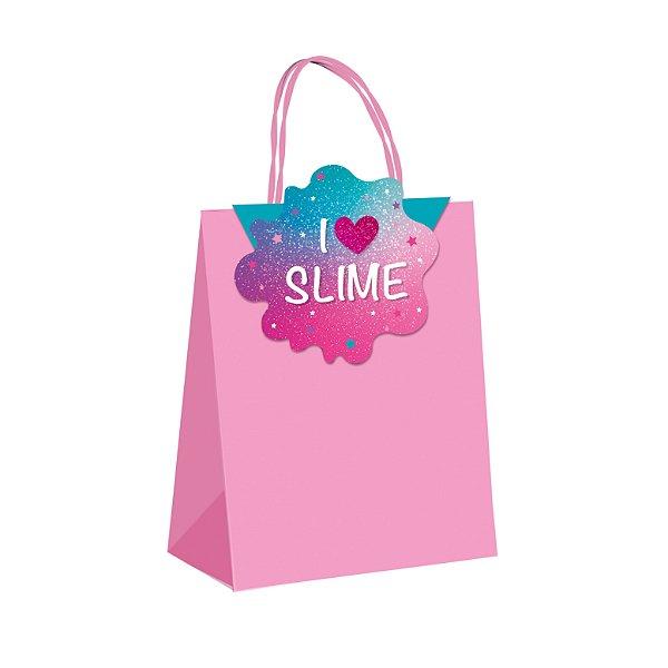 Sacola de Papel p Lembrancinha Festa Slime - 10 unidades - Cromus - Rizzo Festas