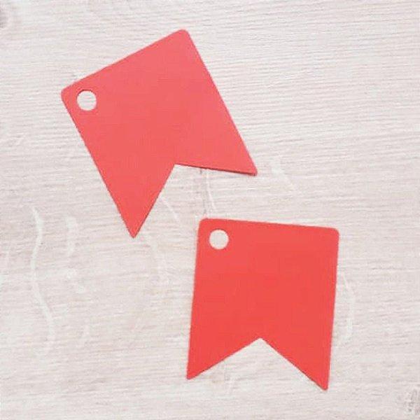 Tag Bandeirinha Festa Junina Vermelho - 4,5 X 5,5 cm - 10 Unidades - Rizzo Embalagens