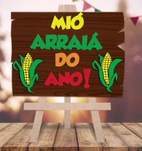 Lousa para Mesa Festa Junina em MDF Mió Arraiá do Ano - 1 unidade - Grintoy - Rizzo Festas