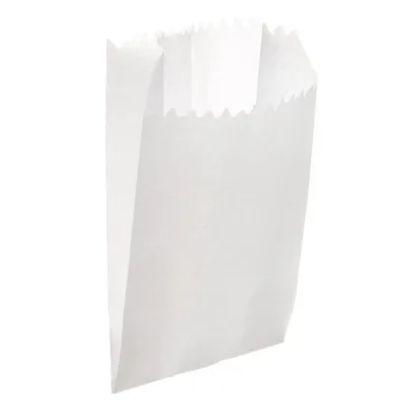 Saquinho de Papel - Liso Branco - 15cm x 7,5cm - 50 unidades - Rizzo Festas