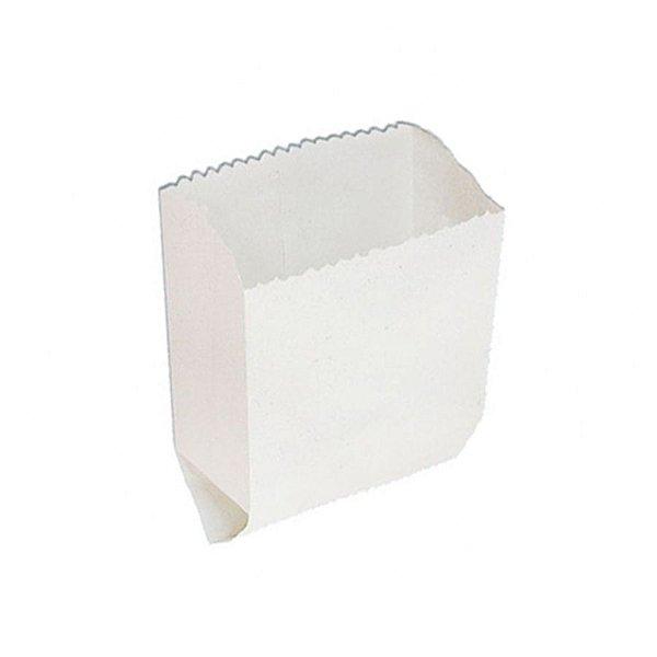 Saquinho de Papel - Liso Branco - 15,5cm x 13cm - 50 unidades - Rizzo Festas
