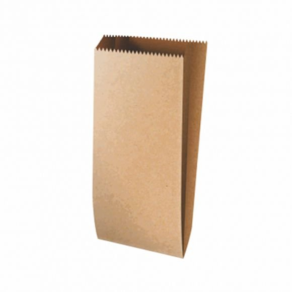 Saquinho de Papel Liso Pardo - 10x21cm - 10 unidades - Rizzo Festas