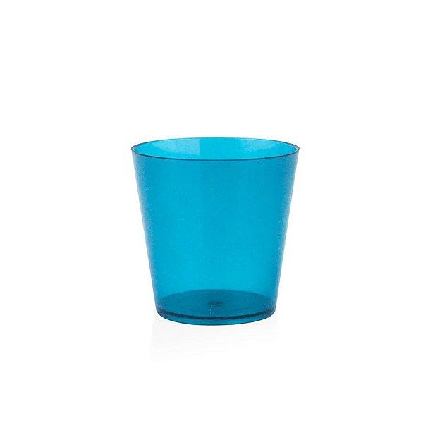 Copinho Acrílico para Doces 25ml Azul Redondo - 10 unidades - Plural - Rizzo Festas