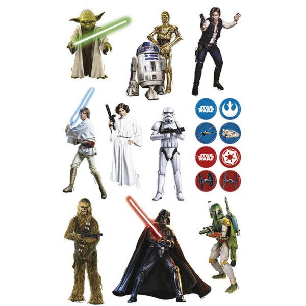 Mini Personagens Decorativos Festa Star Wars - 17 unidades - Regina - Rizzo Festas