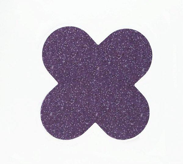Forminha para doces 4 Pétalas Glitter Roxo - 50 unidades -  NC Toys