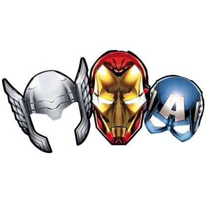 Máscara Festa Vingadores - 6 unidades - Regina - Rizzo Festas