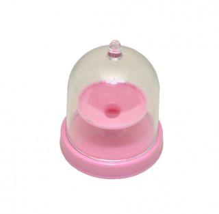 Mini Cúpula em Acrílico com Base Rosa 6,5cm - 10 unidades - Rizzo Festas