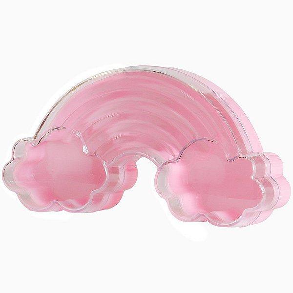 Caixinha Acrílica para Doces Arco-Íris Rosa - 10cm x 5,5cm - 10 unidades - Artlille - Rizzo Festas