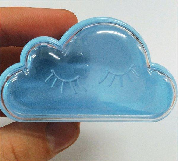 Caixinha Acrílica para Doces Nuvem Azul - 6,8cm x 4cm - 10 unidades - Artlille - Rizzo Festas