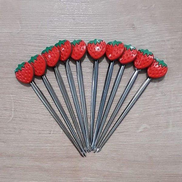Palito p Petiscos Morango - 10 unidades - Rizzo Embalagens