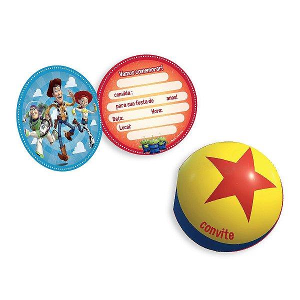 Convite Festa Toy Story 4 - 8 unidades - Regina - Rizzo Festas