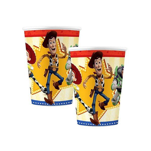 Copo de Papel Festa Toy Story 4 - 180ml - 8 unidades - Regina - Rizzo Festas