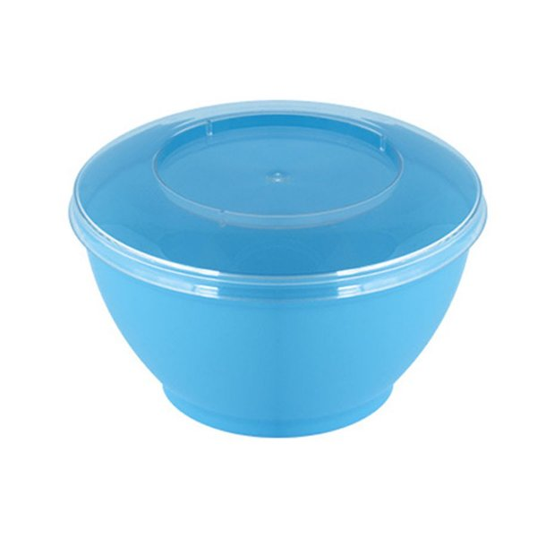 Pote redondo Azul com tampa 100ml - 10 unidades - Strawplast - Rizzo Embalagens