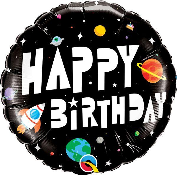 Balão Metalizado Aniversário Astronauta - 18'' 46cm - Qualatex - Rizzo festas