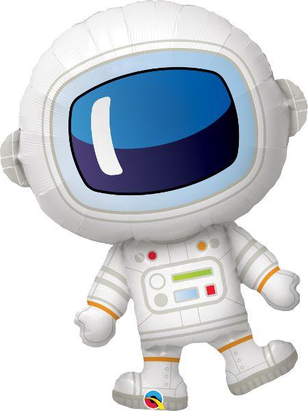 Balão Metalizado Aniversário Adorável Astronauta - 37'' 94cm - Qualatex - Rizzo festas