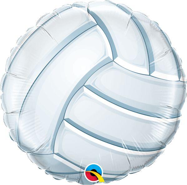 Balão Metalizado Bola de Vôlei - 18'' - Qualatex - Rizzo festas