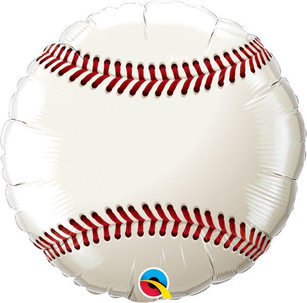 Balão Metalizado Bola de Beisebol - 18'' - Qualatex - Rizzo festas