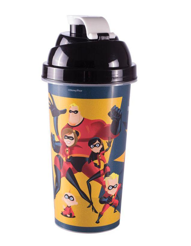 Shakeira de Plástico Os Incríveis 2 - 580ml - 01 unidade - Plasútil - Rizzo Festas