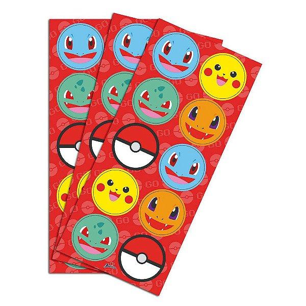Adesivo Redondo para Lembrancinha Festa Pokemon - 30 unidades - Junco - Rizzo Festas