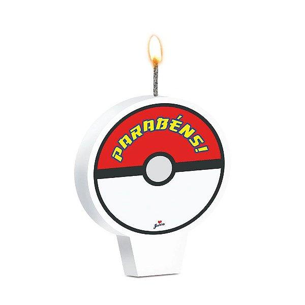 Vela Festa Pokemon - 8,5cm x 7cm - 1 Unidade - Junco - Rizzo Festas