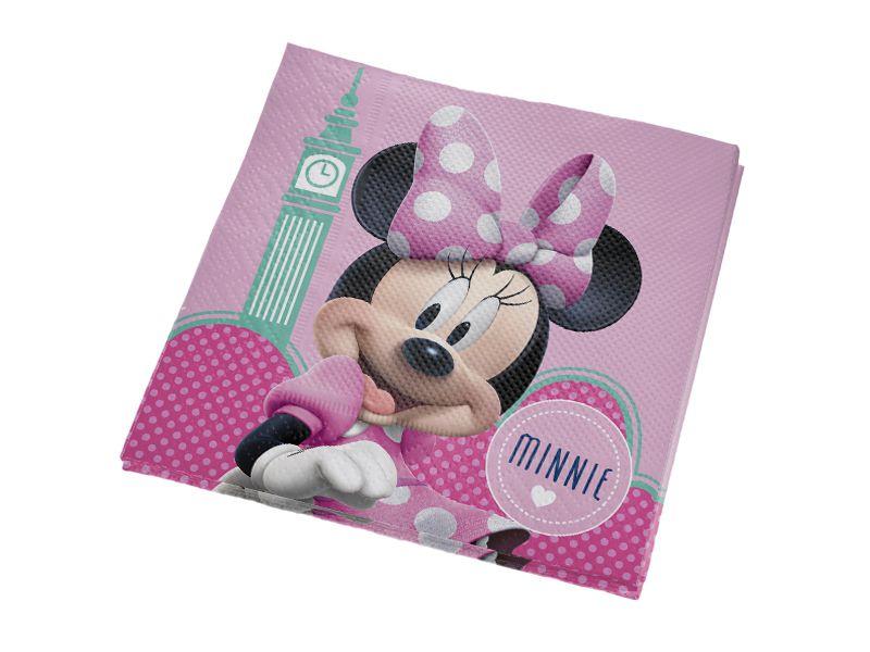 Guardanapo Folha Dupla Festa Minnie Rosa - 25cm - 16 unidades - Regina - Rizzo Festas