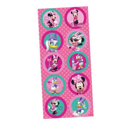 Adesivo Redondo para Lembrancinha Festa Minnie Rosa - 30 unidades - Regina - Rizzo Festas