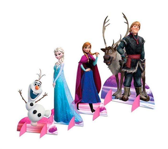 Decoração de Mesa Festa Frozen - 08 unidade - Regina - Rizzo Festas