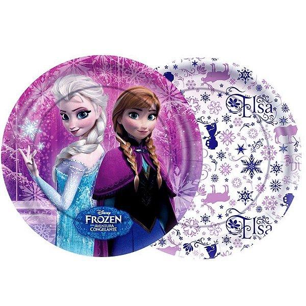 Prato Festa Frozen 18cm - 8 unidades - Regina - Rizzo Festas
