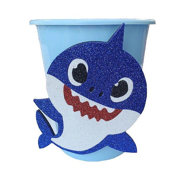 Baldinho Pipoca Azul Festa Baby Shark - 01 unidade - Rizzo Festas