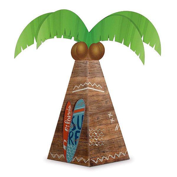 Caixa Coqueiro Festa Surf Tropical - 08 unidades - Junco - Rizzo Festas
