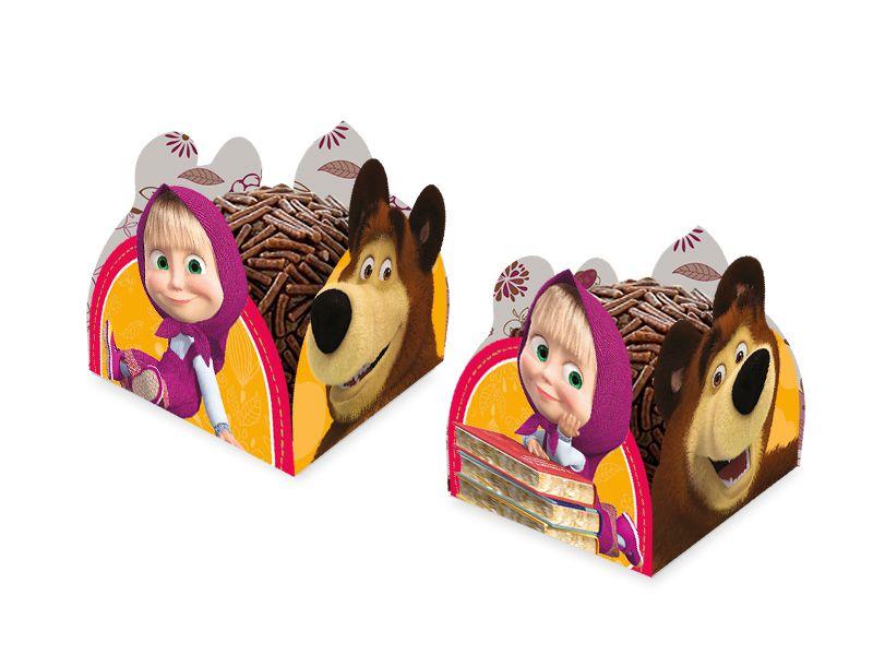 Porta Forminha para Doces Festa Masha e o Urso - 50 unidades - Regina - Rizzo Festas