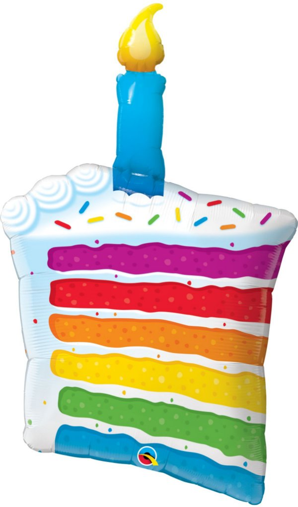 Balão Metalizado Bolo de Aniversário - 42'' - Qualatex - Rizzo festas